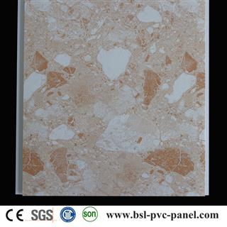 brown marble design pvc wall ceiling