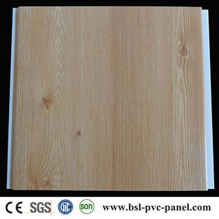 25cm V groove wood grain pvc wall panel