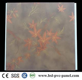 30cm maple leaf pattern laminated pvc wall panel