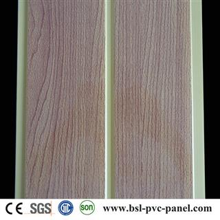 Good quality 20cm middle groove wood grain pvc ceiling