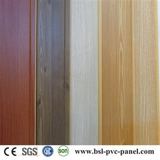 25cm wood grain laminated pvc wall panel