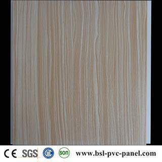 30cm wood grain laminated pvc wall panel for South Africa Market