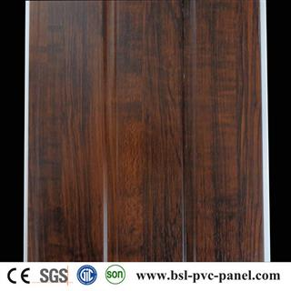 Wood grain pvc wall panel from Haining