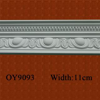 Pure white PU Cornices