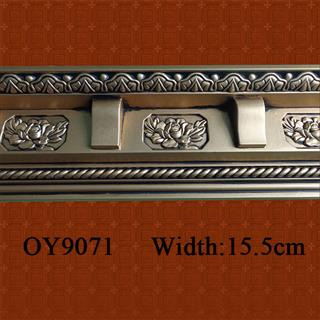Antique Bronze PU Carved Cornice Molding from China supplier