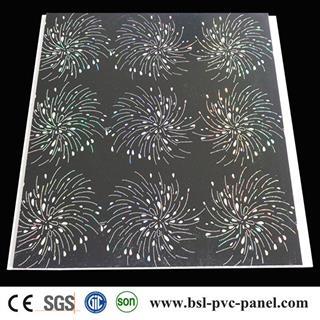 30cm 8mm 2.6kg laser pvc ceiling panel for interior decoration