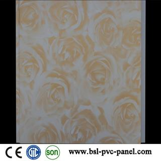 New pattern 25cm V groove lamination pvc wall panel