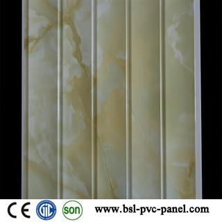 30cm 5 wave marble pvc wall panel