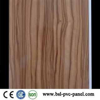 25cm 8mm U groove lamianton pvc wall panel for Iraq