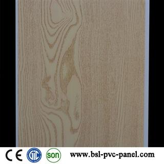 25cm wood design hot stamping pvc ceiling panel in China