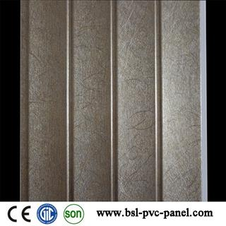 The lowest price 25cm 8mm wave pvc wall panel from China
