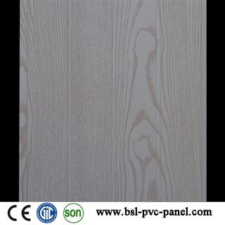 Wood grain 25cm 8mm pvc wall panel from China