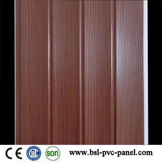 25cm wave wood grain pvc wall panel for India market