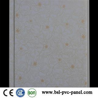 New design 25cm 8mm Lamination plain pvc wall panel