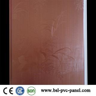 25cm 8mm lamination plain pvc wall panel supplier