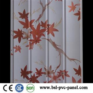 25cm 7,5mm 4 wave maple leaf design pvc wall panel