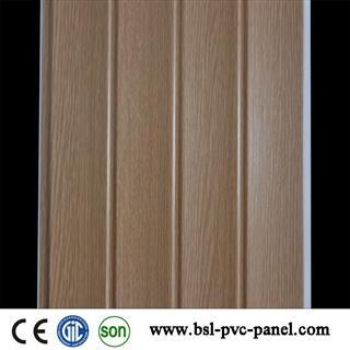 25cm 2.7kg wood grain pvc wall panel for Pakistan