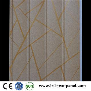 25cm wave pvc wall panel for interior decoration