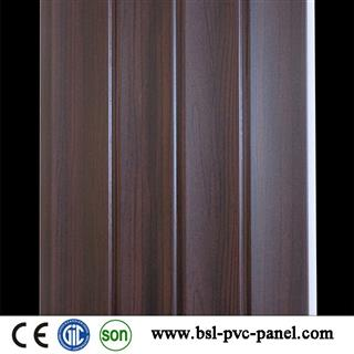 25cm 3kg wood grain wave pvc wall panel for India