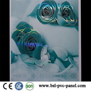 25cm rose design pvc panel for Iraq market